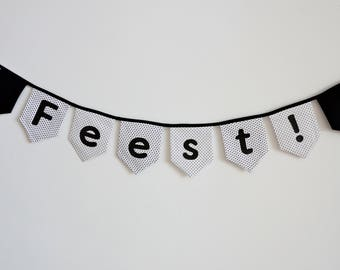 Custom made fabric bunting with name or text
