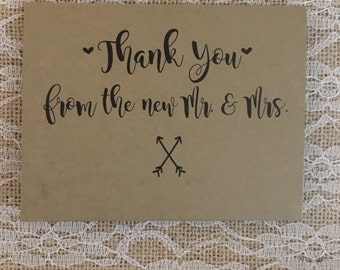 Wedding Thank you cards - Romantic