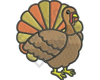 Thanksgiving Turkey - Machine Embroidery Design
