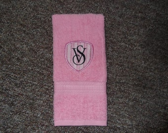 Embroidered ~VICTORIA'S SECRET~ Inspired Bath Hand Towel