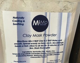MiMo Naturals Clay Mask Powder