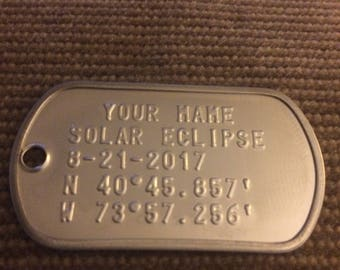 Solar Eclipse Dog Tag