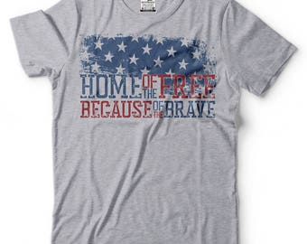 USA T-Shirt Proud American 4th July US Flag Tee Shirt