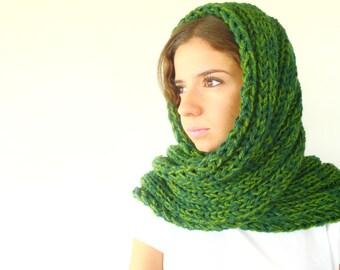Bufanda verde hecha a mano. Bufandas de lana para mujer. Bufandas de punto para hombre. Bufandas tejidas. Ideas para regalar para ella