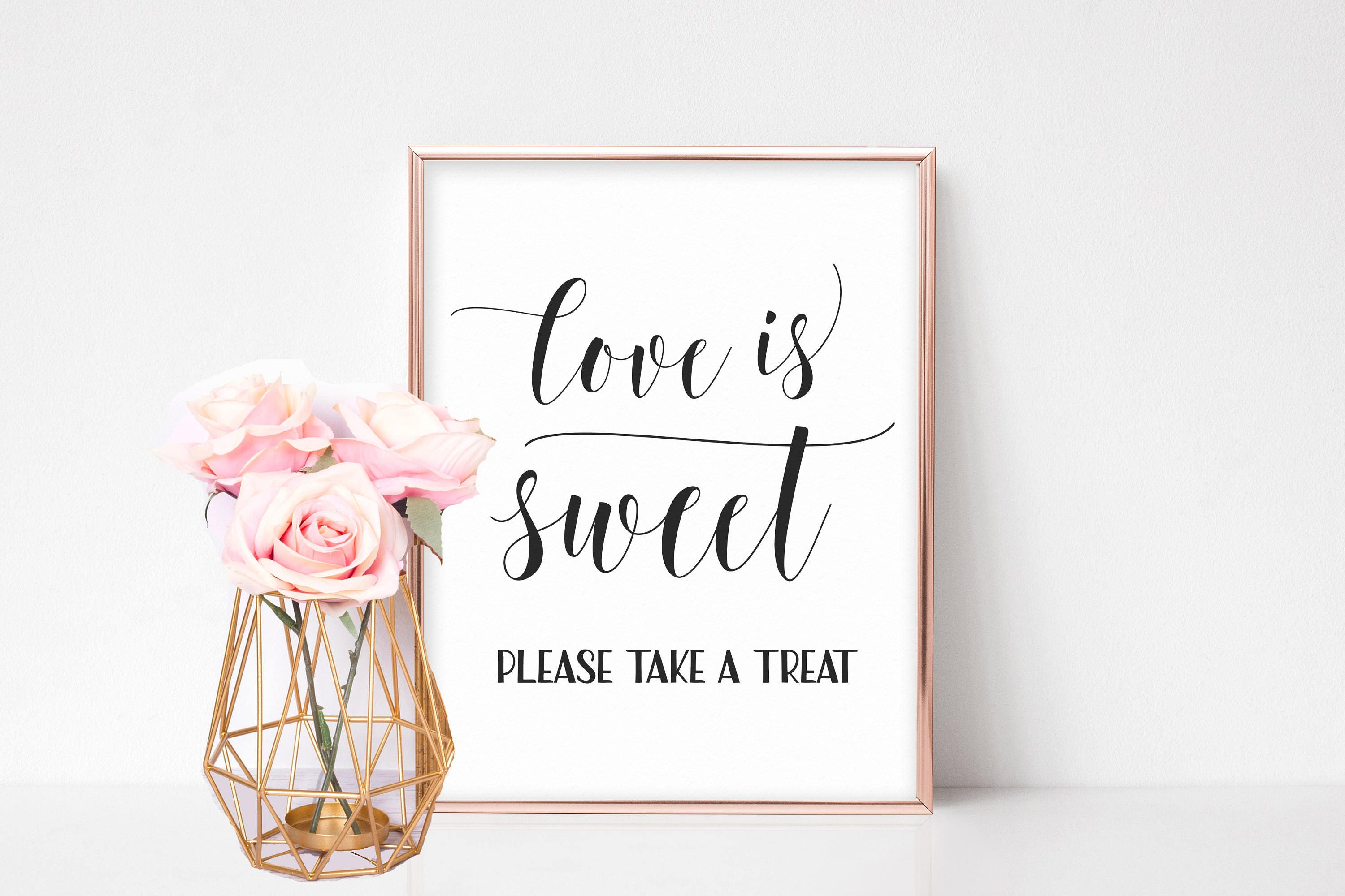 Love is Sweet Sign Wedding Favors Candy Sign Candy Bar Sign