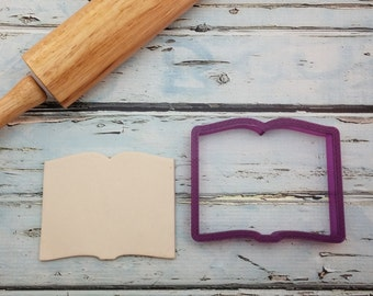 Open Book Cookie Cutter and Fondant Cutter and Clay Cutter and Clay Cutter