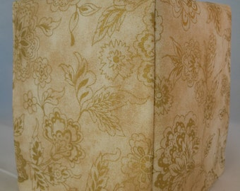 Ready To Ship -  Jacobean Gold -  Fabric Tissue Box Cover
