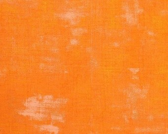 Fabric by the Yard -Grunge Basic in Clementine - by Basic Grey for Moda