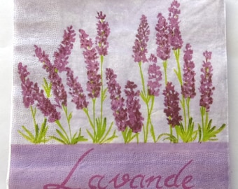Lavender flowers No. 10 napkins   3400