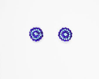 Blue and white rhinestone pasties, blue rhinestone pasties, blue rhinestone burlesque blue nipple covers