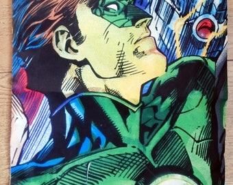 Dc comics cushion, green lantern, character cushion cover, pillow cover comic book, super hero