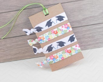 Graduation Gift - Hair Ties - Party Favors - Gift for Grad - Little Gift - Work Gift - Graduation Party - Gift for Her - Hair Accessories