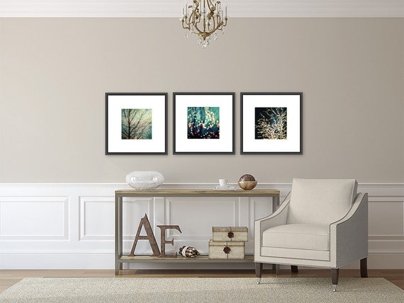 Ikea Ufficio Stampa : Aqua decor set of 3 prints or canvas art for ikea ribba
