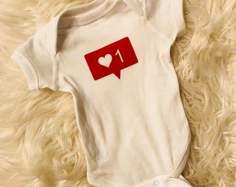 Insta like baby bodysuit