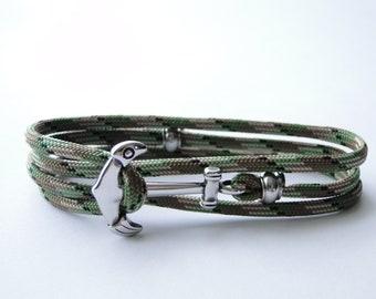 Wrap Anchor/Amphora Bracelet Unisize- Scout Paracord 550/Titanium/316L Stainless Steel