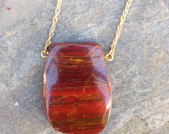 Natural Jasper Pendant / Jasper necklace