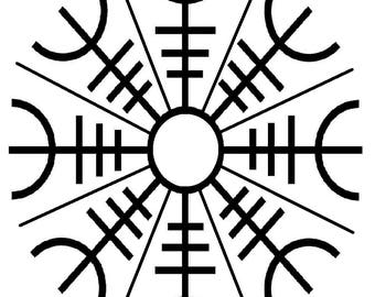 House Positive Energy Protective Symbol Digital Design Print Decor Wall Art House Protection