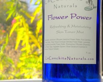 Organic Rosewater Toner Mist - All Natural, Moisturizing Facial Toner for All Skin Types - 2 oz Spray