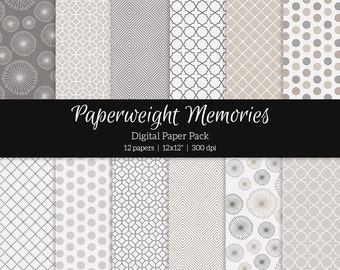 "Digital patterned paper - Linen and Ash -  textured papers, digital scrapbooking - scrapbook paper - 12x12"" 300dpi  - Commercial Use"