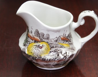 1960's Yorkshire Ironstone Creamer. Made in Staffordshire England