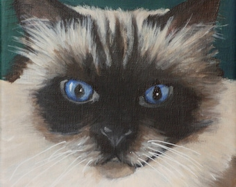"Custom Painting of YOUR pet 6""x6"""