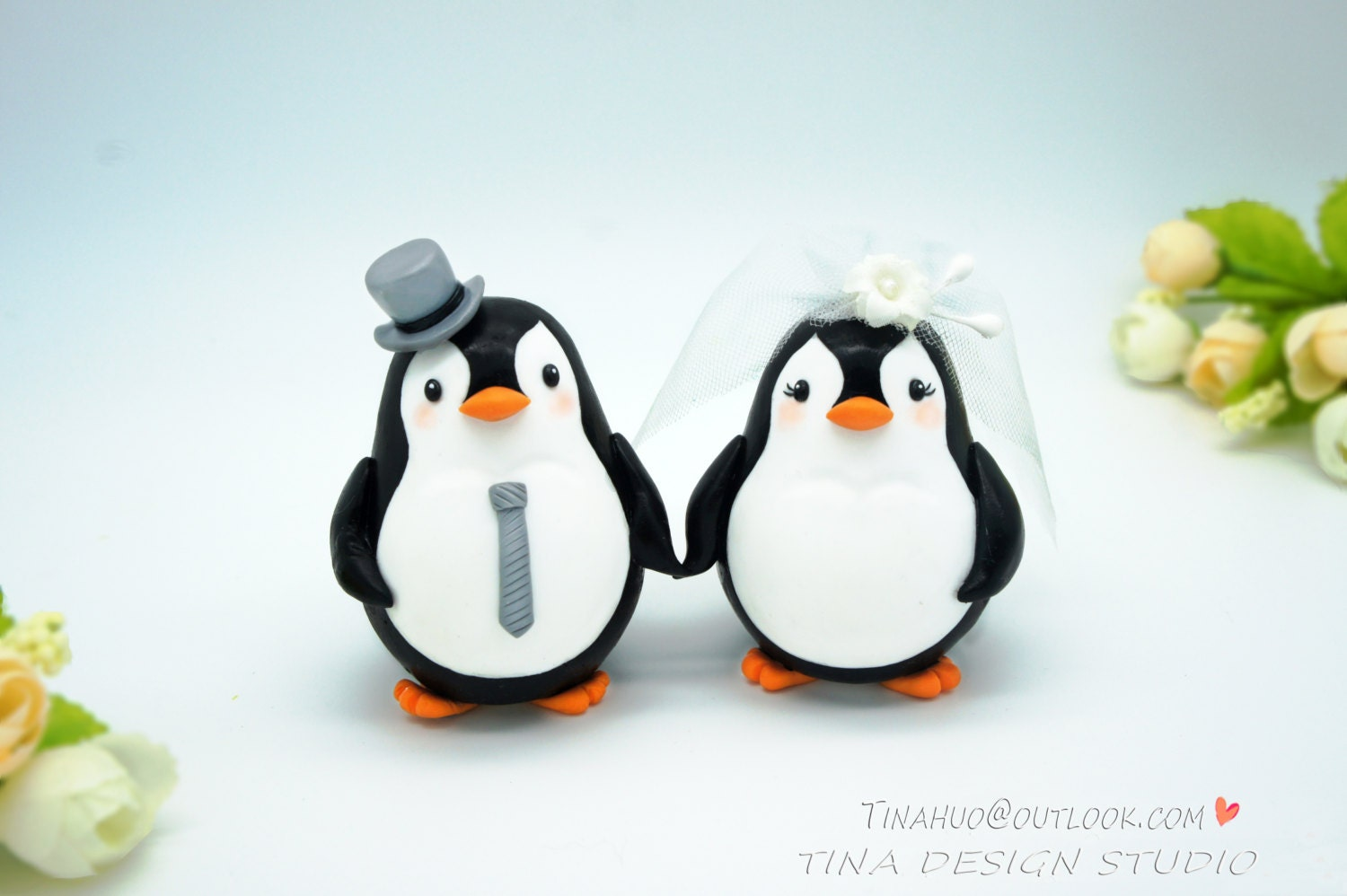 Penguin Cake Toppers Funny Wedding Cake Toppers Custom