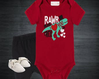 Rawr Means I love You In T-Rex Onesie
