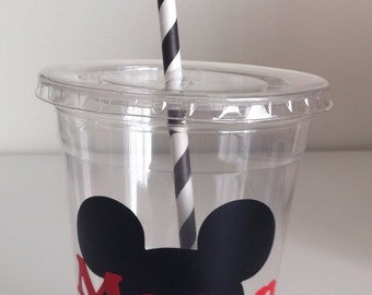 12 Mickey Clubhouse Party Cups, Personalized Mickey Mouse Cups, Mickey Mouse Clubhouse, Mickey Mouse Birthday
