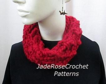 Crochet Scarf Pattern, Crochet Chunky Cowl. Open Weave Scarf Pattern, Quick and Easy Crochet, PDF227