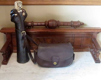 Dads Grads Sale Coach Prairie Bag In Mahogany Leather With Brass Hardware No. 9954- Made In United States- VGC