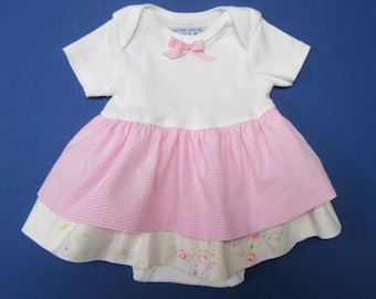 6 to 9 Month Baby Girl Onesie Dress
