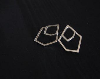 Geometric Layered Minimalist Stud Earrings