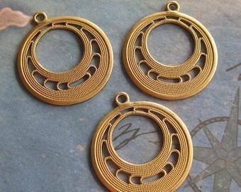 4 PC  Brass Art Deco Hoop Finding - Q0272