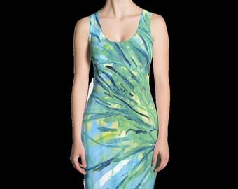 Ecstatic print dress. Get 2 looks in 1!