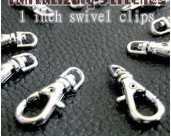 15 Pieces 23.5mm / 1 inch Lobster Swivel Clasps (Choose Your Finish: Nickel, Antique Brass and Gold Color)
