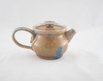 Personal Teapot, Ceramic, Prussian Crystalline