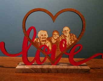 Custom Laser Cut/Engraved Picture