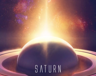 Planet Saturn Wall  decor poster