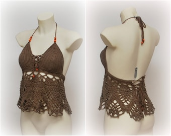 Cute beach outfit, before summer is over, dark brown halter top, hippie retro style, summer festival look, hot summer afternoons wear