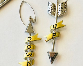 Up and Down Dangles. Up and Down earrings, arrow earrings