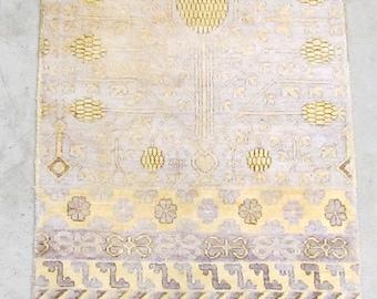 Handknotted 2X3 Art Silk Luxury Rug