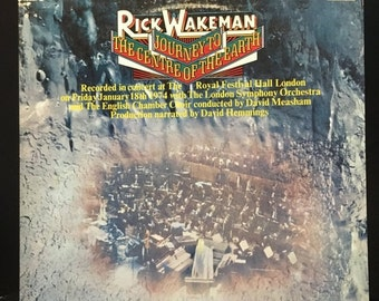 ON SALE Vintage 1974 Rick Wakeman Journey to the Center of the Earth Vinyl Record Excellent Condition