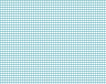 "Aqua Gingham Small 1/8"" Riley Blake Designs C440-20 Cotton Quilting Fabric - Versatile Gingham for Quilting, Clothing - FWM"