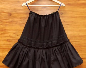 Black Cotton Petticoat Skirt