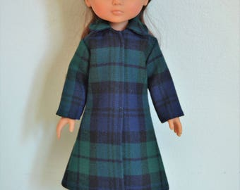 "Handmade Doll Clothes Coat fits 13"" Corolle Les Cheries Dolls Christmas D"