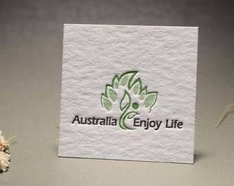 Square letterpress business cards etsy square letterpress business card design and print business card design and print colourmoves