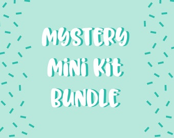 Mystery planner stickers bundle, Mystery grab bag, Sticker bundle that includes kits suitable for Erin Condren LP, personal planners etc.