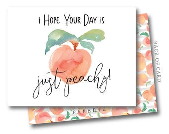 Just Peachy Stationery Set - Greeting Cards