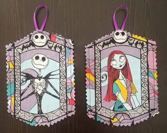 ornaments Nightmare Before Christmas Jack / Sally - set of 4