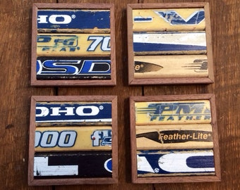 Hockey Stick Coasters (Set of 4)
